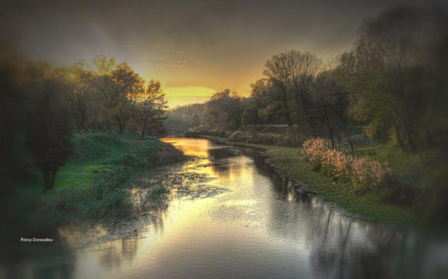 Artiste : DONNADIEU Rémy  /  Titre : Paysages de pays sages - ce matin dès l'aube !