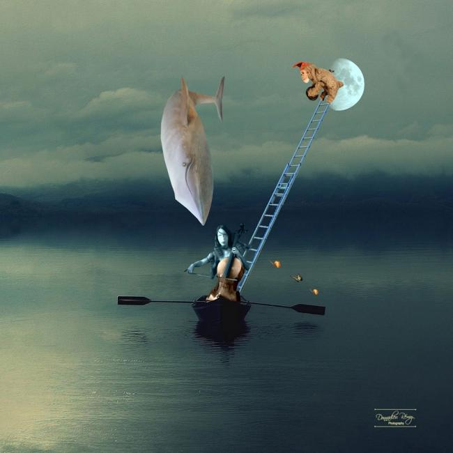 Artiste : DONNADIEU Rémy  /  Titre : des brins de vies en embrums - passage de piétons amoureux
