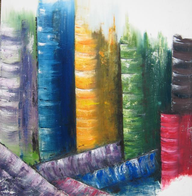 Artiste : LLORET Jocelyne  /  Titre : Illusion picturale