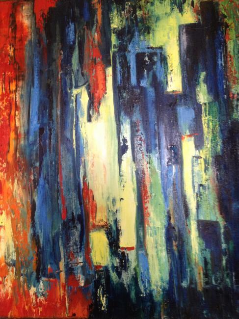 Artiste : LLORET Jocelyne  /  Titre : Décalage pictural