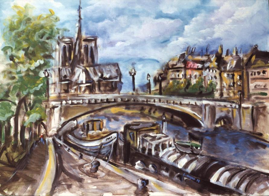 Artiste : VANÇON Eric  /  Titre : Notre Dame, vue du Pont de Sully