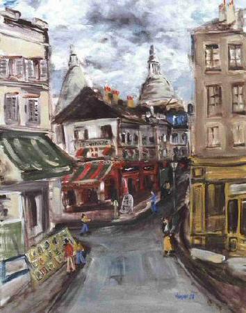 Artiste : VANÇON Eric  /  Titre : Montmartre, vue du Consulat