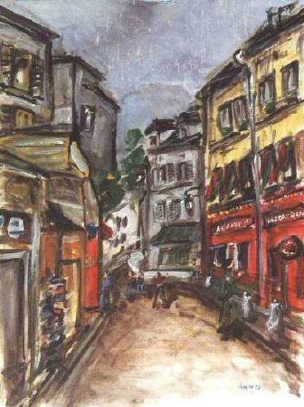 Artiste : VANÇON Eric  /  Titre : Montmartre, rue Norvins